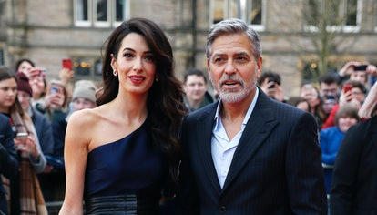 George and Amal Clooney attend the People's Postcode Lottery Charity Gala in 2019 in Edinburgh, Scot...