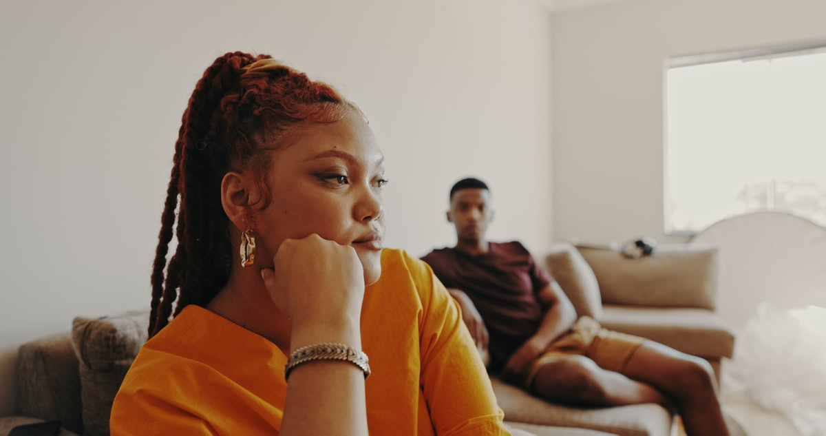 Couple argues after realizing their relationship is based on lust, not love.