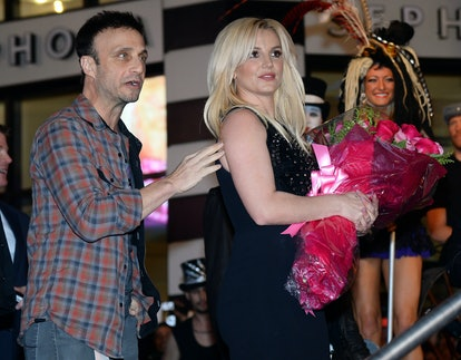 Britney Spears and her manager Larry Rudolph in 2013 in Las Vegas, Nevada.