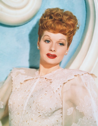 Lucille Ball's fiery red hair and bumper bangs epitomized the 1940s.