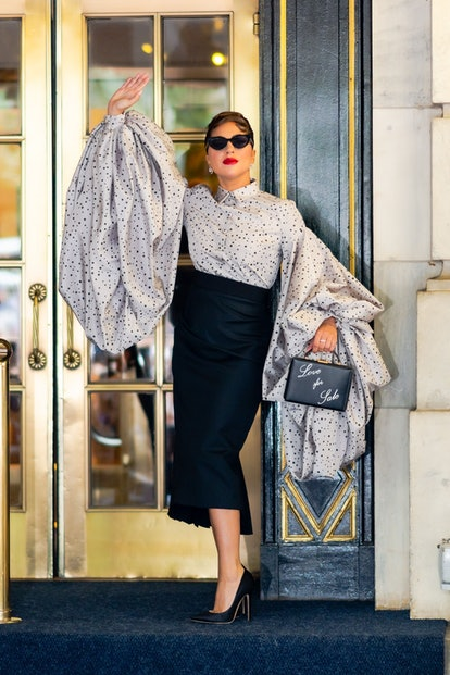 NEW YORK, NEW YORK - JULY 02: Lady Gaga is seen in Midtown on July 02, 2021 in New York City. (Photo...