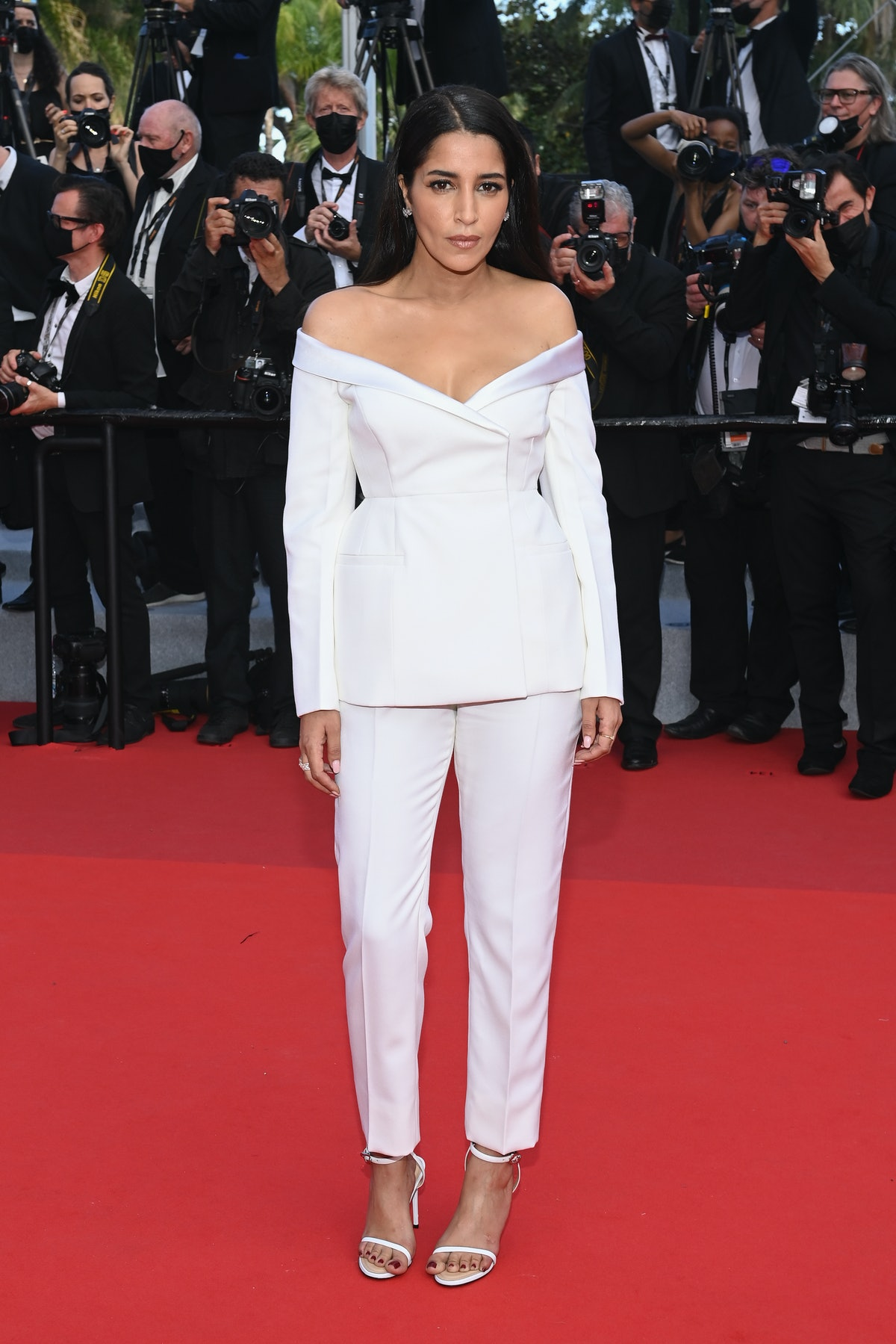 """CANNES, FRANCE - JULY 06: Leila Bekhti attends the """"Annette"""" screening and opening ceremony during the 74th annual Cannes Film Festival on July 06, 2021 in Cannes, France. (Photo by Pascal Le Segretain/Getty Images)"""