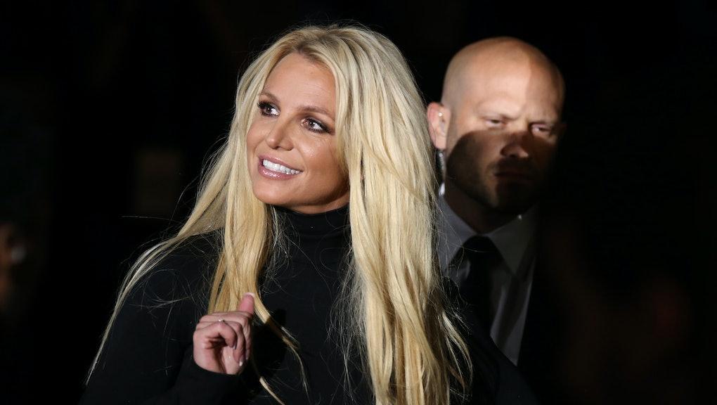 "LAS VEGAS, NV - OCTOBER 18:  Singer Britney Spears attends the announcement of her new residency, ""B..."