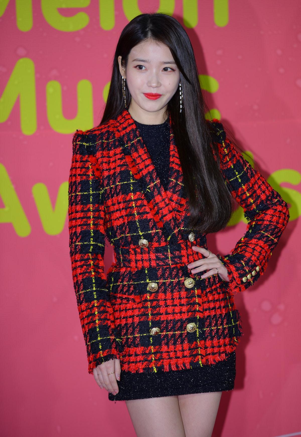 SEOUL, SOUTH KOREA - DECEMBER 02: IU attends the 2017 Melon Music Award at Gocheok Sky Dome on December 02, 2017 in Seoul, South Korea. (Photo by The Chosunilbo JNS/Imazins via Getty Images)