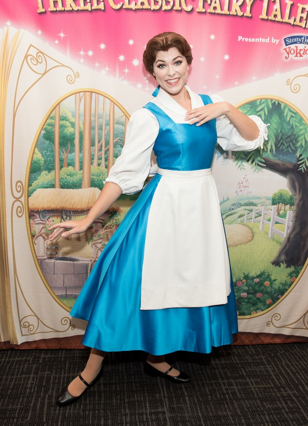 NEW YORK, NY - APRIL 10:  Princess Belle attends The Moms Disney Live! Mamarazzi event with Alana an...