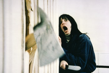 """Actress Shelley Duvall on the set of """"The Shining"""". (Photo by Sunset Boulevard/Corbis via Getty Imag..."""