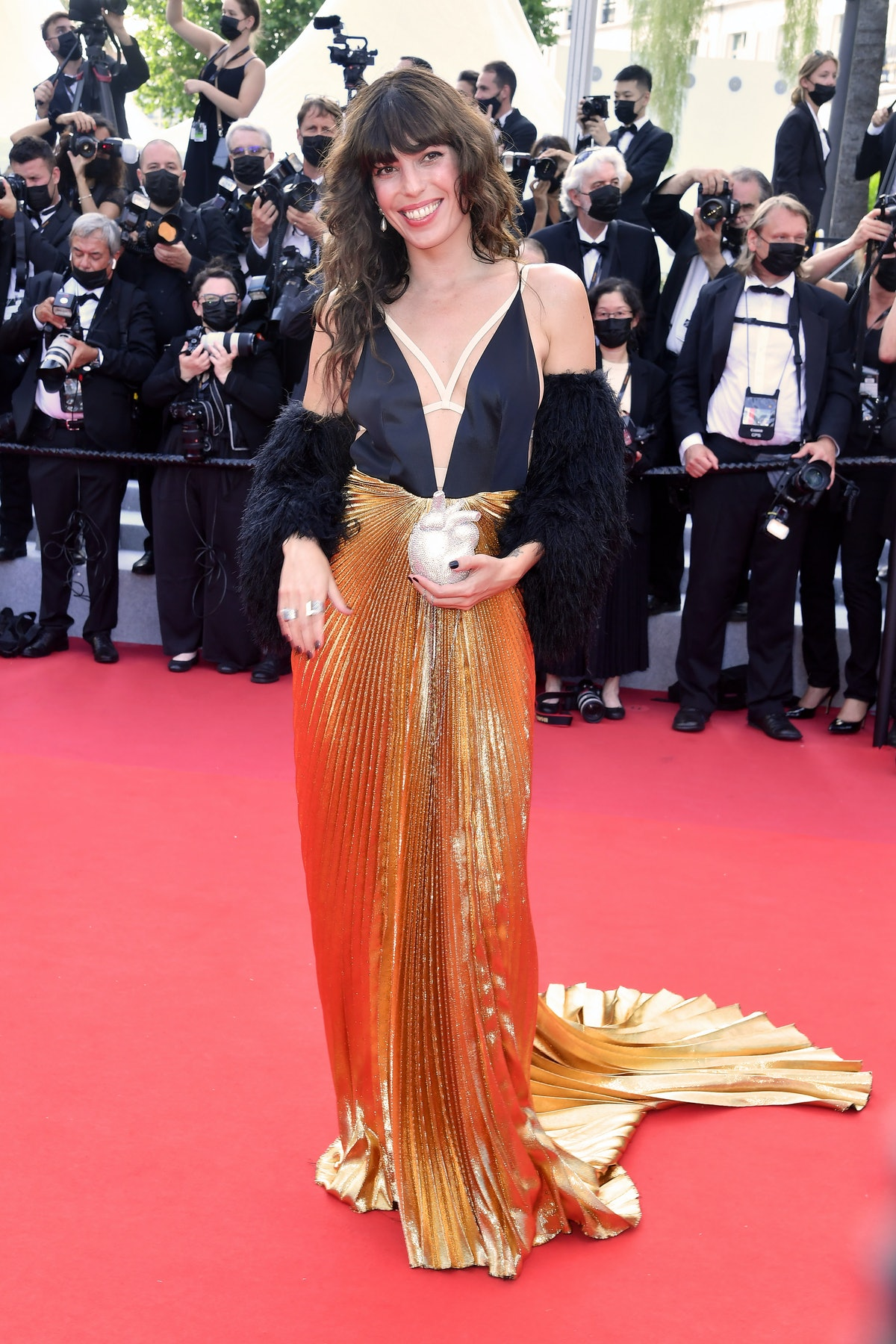 """CANNES, FRANCE - JULY 06: Lou Doillon attends the """"Annette"""" screening and opening ceremony during the 74th annual Cannes Film Festival on July 06, 2021 in Cannes, France. (Photo by Stephane Cardinale - Corbis/Corbis via Getty Images)"""