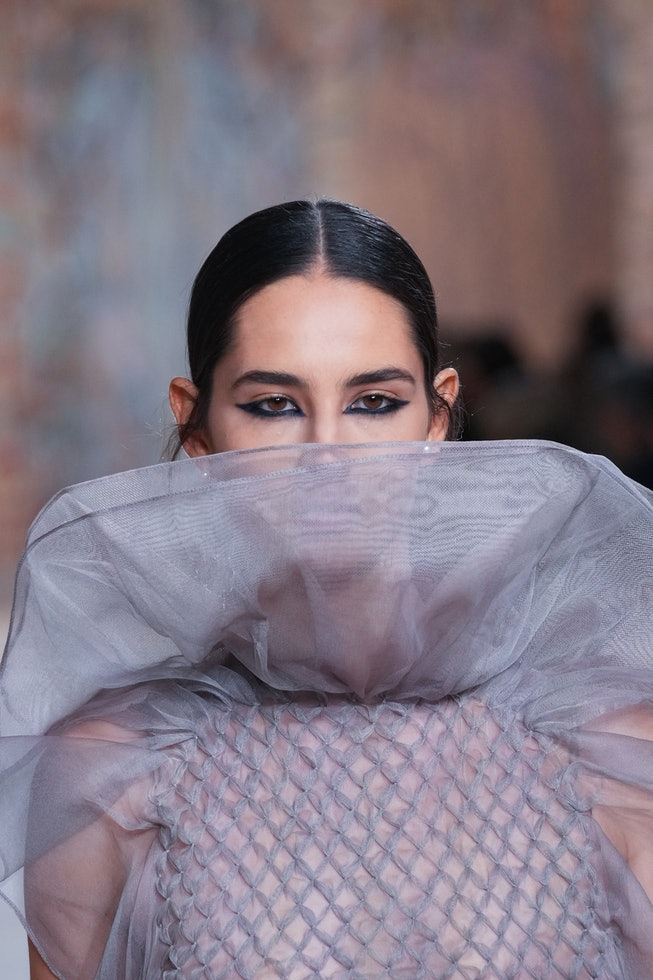 PARIS, FRANCE - JULY 05: A model walks the runway during the Christian Dior Haute Couture Fall/Winte...