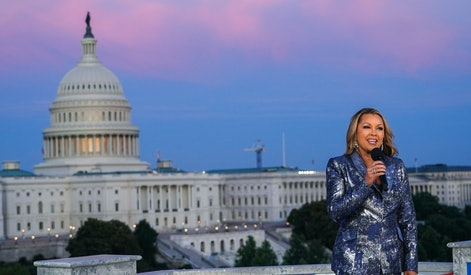 """WASHINGTON, DC - JULY 02: Multi-platinum recording artist and star of television, film and the Broadway stage Vanessa Williams hosts """"A Capitol Fourth,"""" live from Washington, DC, airing Sunday on PBS July 04, 2021 in Washington, DC. (Photo by Jemal Countess/Getty Images for Capital Concerts)"""