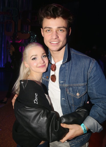 The dating history of 'Gossip Girl's Thomas Doherty includes former Disney star Dove Cameron and a Dutch model. Photo via Bruce Glikas/Getty Images Entertainment/Getty Images