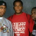 """NEW YORK, NEW YORK--SEPTEMBER 01:  Ali Shaheed Muhammad, Phife Dawg (aka Malik Izaak Taylor) and Q-Tip (aka Kamaal Ibn John Fareed) of the hip hop group """"A Tribe Called Quest"""" pose for a portrait session on September 1, 1993 in New York . (Photo by Al Pereira/Michael Ochs Archives/Getty Images)"""