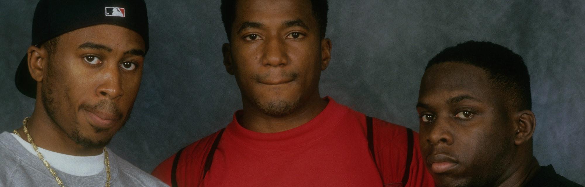 NEW YORK, NEW YORK--SEPTEMBER 01:  Ali Shaheed Muhammad, Phife Dawg (aka Malik Izaak Taylor) and Q-T...