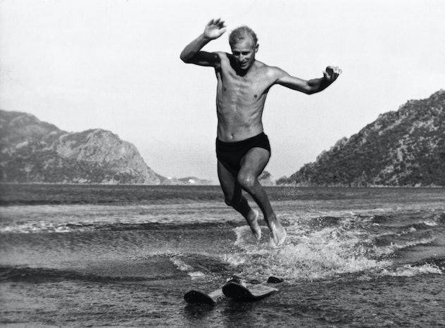 Prince Philip went water-skiing in Turkey.