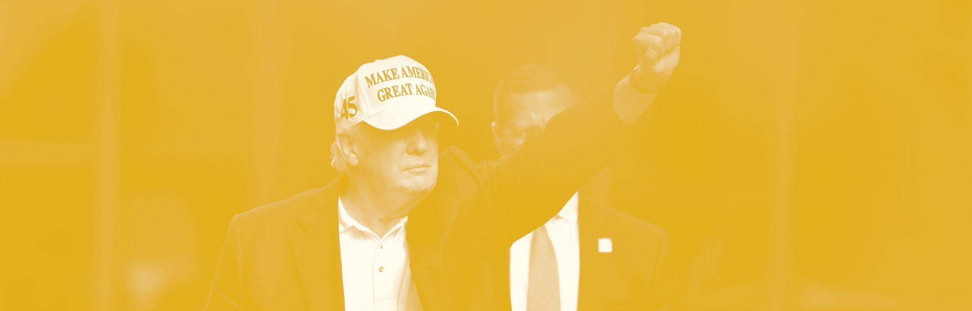 NEW YORK, NEW YORK - JULY 04:  Former U.S. President Donald Trump arrives at Trump Tower in Manhatta...