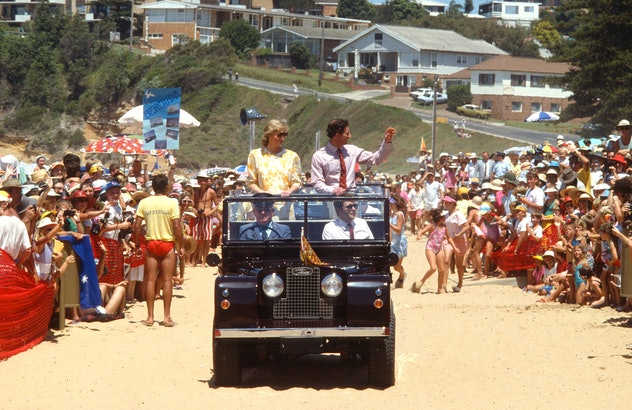 Princess Diana joined Prince Charles in Australia.