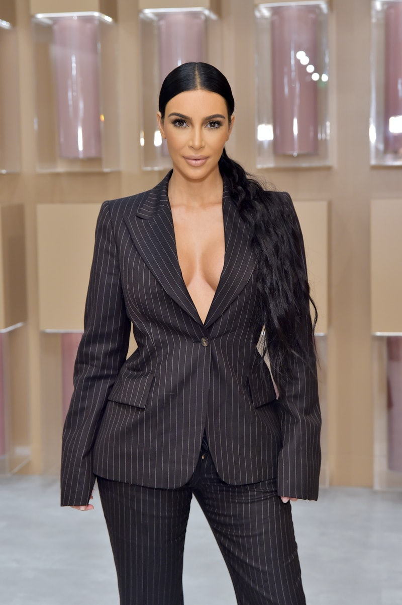 COSTA MESA, CA - DECEMBER 04:  Kim Kardashian West attends the KKW Beauty Pop-Up at South Coast Plaz...
