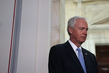 WASHINGTON, DC - JUNE 10: Sen. Ron Johnson (R-WI) listens during a news conference with Republican s...