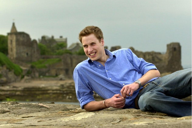 Prince William relaxes on the beach.
