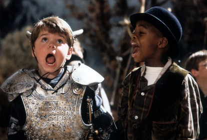 Travis Tedford and Kevin Jamal Woods yelling in a scene from the film 'The Little Rascals', 1994. (P...