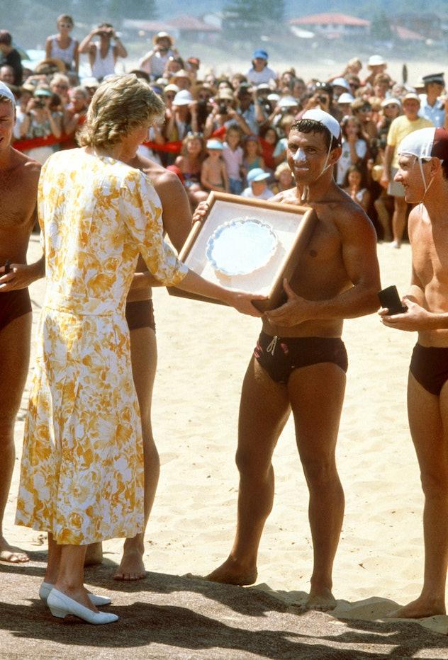 Princess Diana awards best lifeguards.