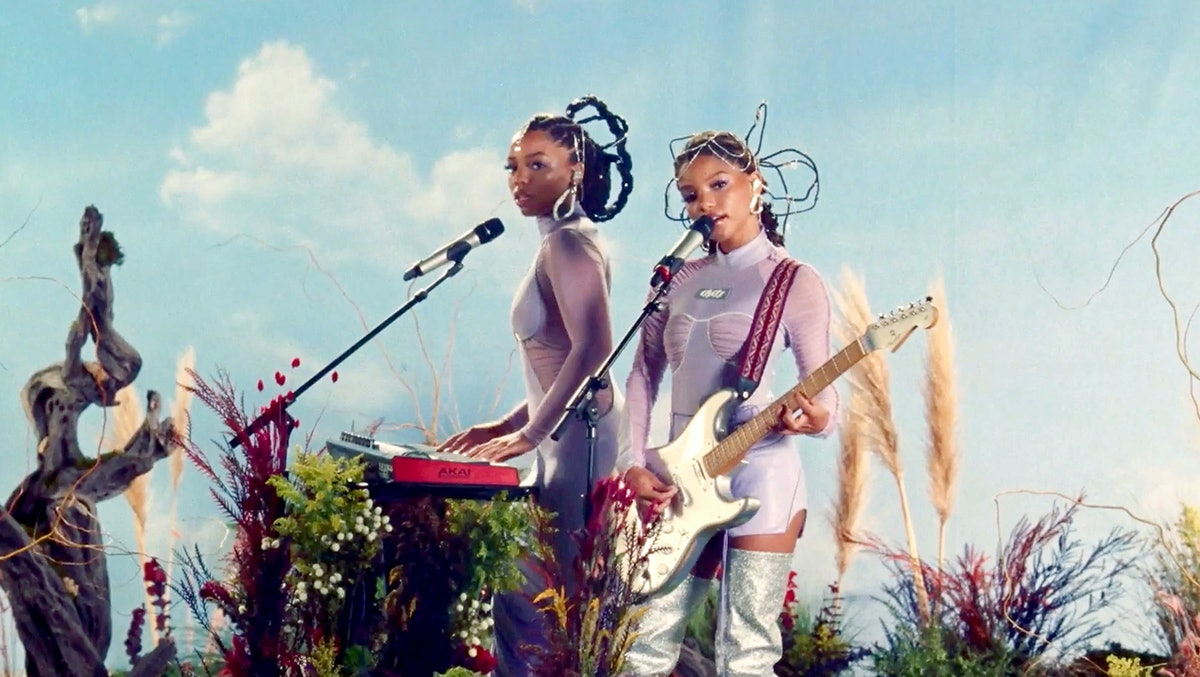 Chloe x Halle, shown here performing at the 2020 Billboard Women in Music event, aren't breaking up,...