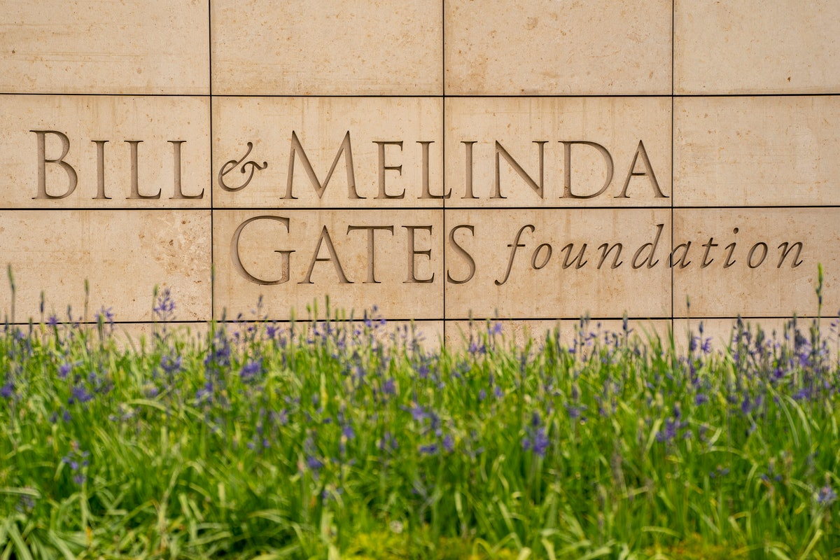 SEATTLE, WA - MAY 04: The exterior of the Bill And Melinda Gates Foundation is seen on May 4, 2021 i...