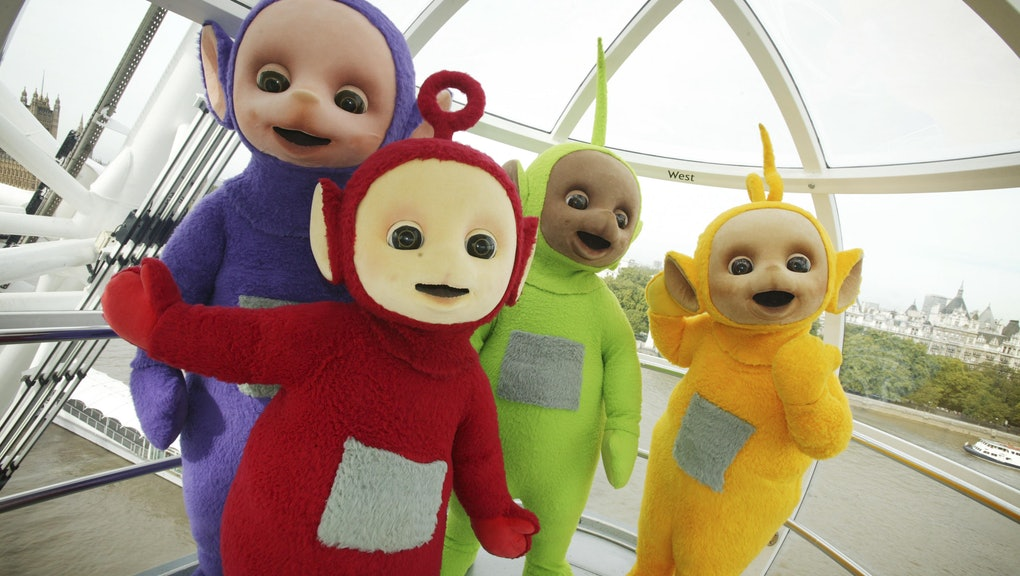 The Teletubbies take a trip on the London Eye to celebrate their 10th year on television.   (Photo b...