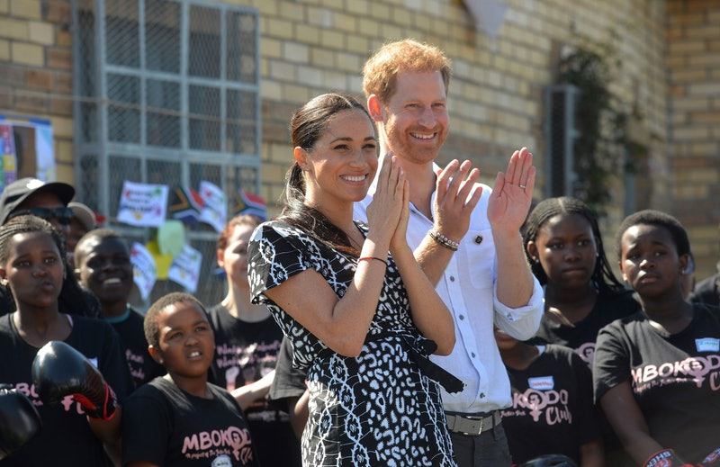 """TOPSHOT - Prince Harry, Duke of Sussex and Meghan, Duchess of Sussex arrive for a visit to the """"Just..."""