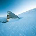 The entrance to the international gene bank Svalbard Global Seed Vault (SGSV) near Longyearbyen on Spitsbergen, Norway, 08 April 2015. During permafrost, the germs of more than four million plants such as rice, corn, beans, and potatoes are collected, frozen, and secured for the future in three mountain caves. Photo:Jens Büttner | usage worldwide   (Photo by Jens Büttner/picture alliance via Getty Images)