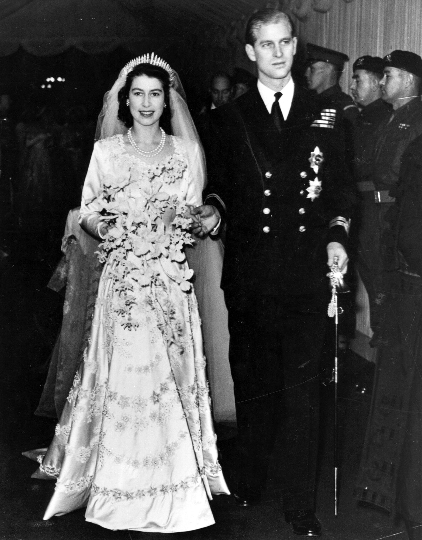 Queen Elizabeth II, as Princess Elizabeth, and her husband the Duke of Edinburgh, styled Prince Phil...