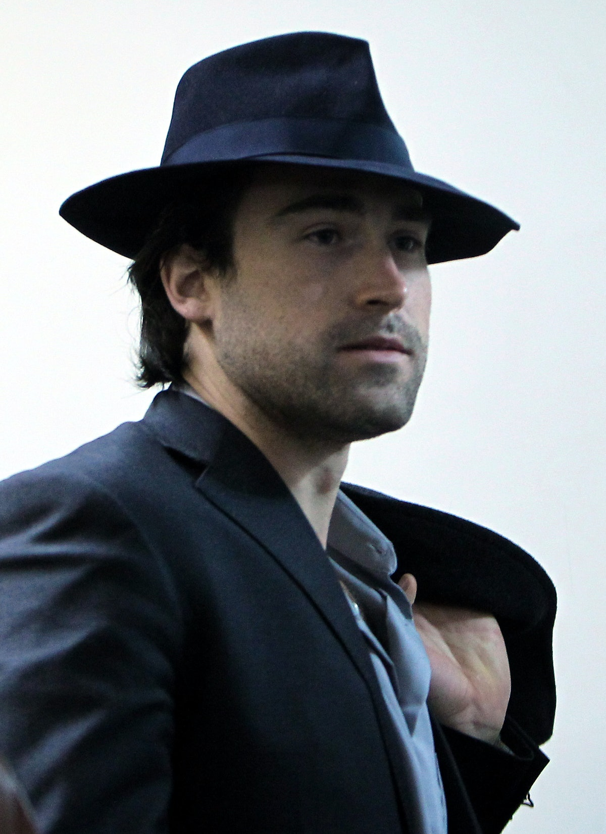 US filmmaker Sean Stone, son of Oscar-winning director Oliver Stone, arrives to hold a press confere...