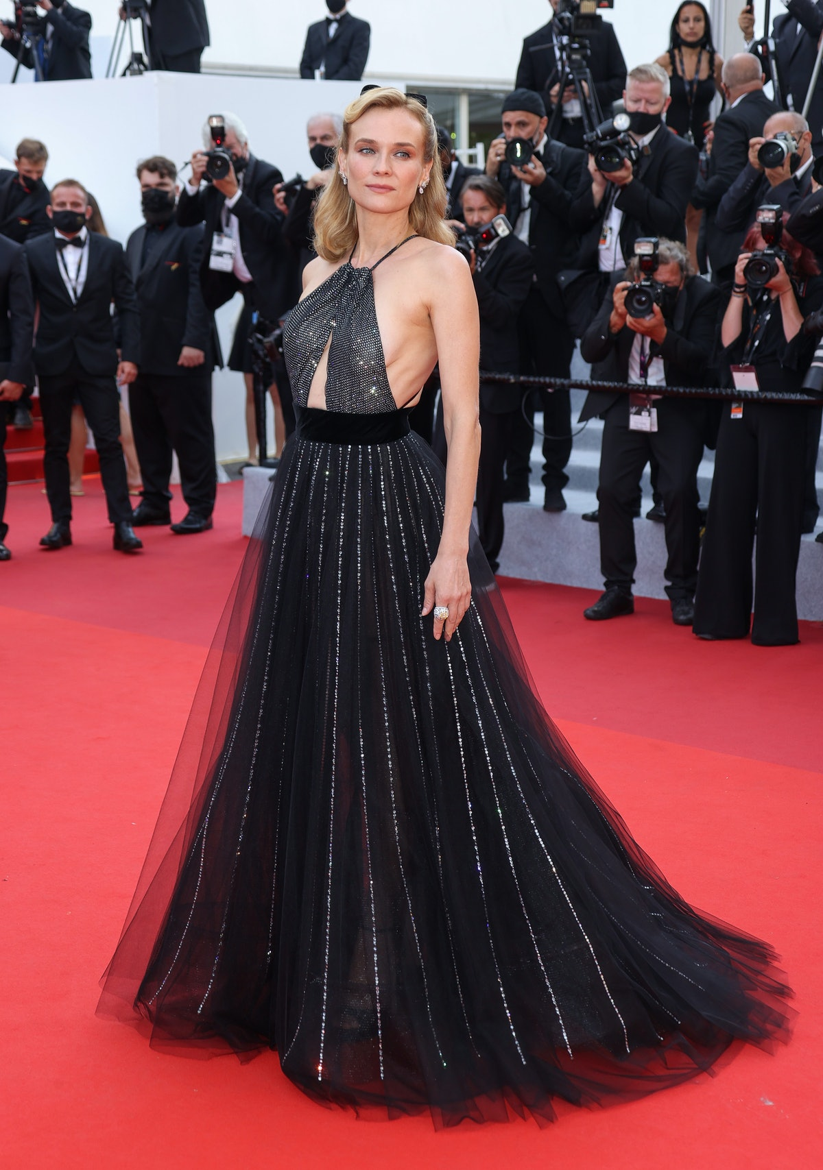 """CANNES, FRANCE - JULY 07: Diane Kruger attends the """"Tout S'est Bien Passe (Everything Went Fine)"""" screening during the 74th annual Cannes Film Festival on July 07, 2021 in Cannes, France. (Photo by Mike Marsland/WireImage)"""