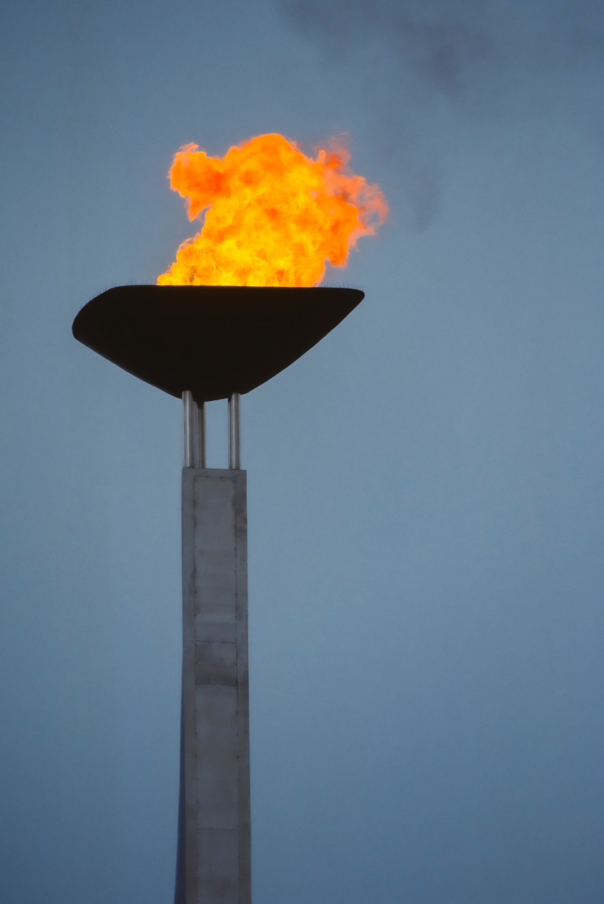 The Olympic's Opening Ceremony features the burning of the flames in the Olympic cauldron, pictured here above the Montjuic Olympic Stadium during the 1992 Summer Olympics.