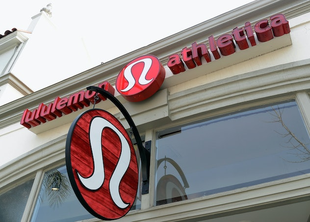 PASADENA, CA - MARCH 19: A sign is displayed on a Lululemon Athletica Inc. store on March 19, 2013 i...