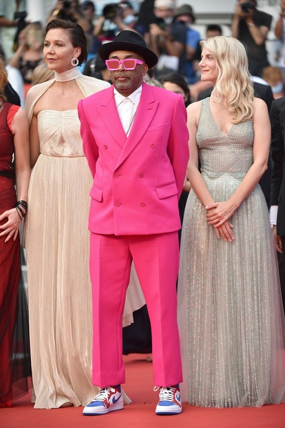 CANNES, FRANCE – JULY 06: Maggie Gyllenhaal, Jury president Spike Lee and Mélanie Laurent attend the...
