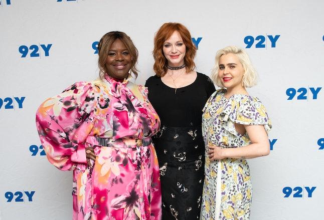 NEW YORK, NEW YORK - JANUARY 24: (L-R) Retta, Christina Hendricks and Mae Whitman visit 92Y to discu...