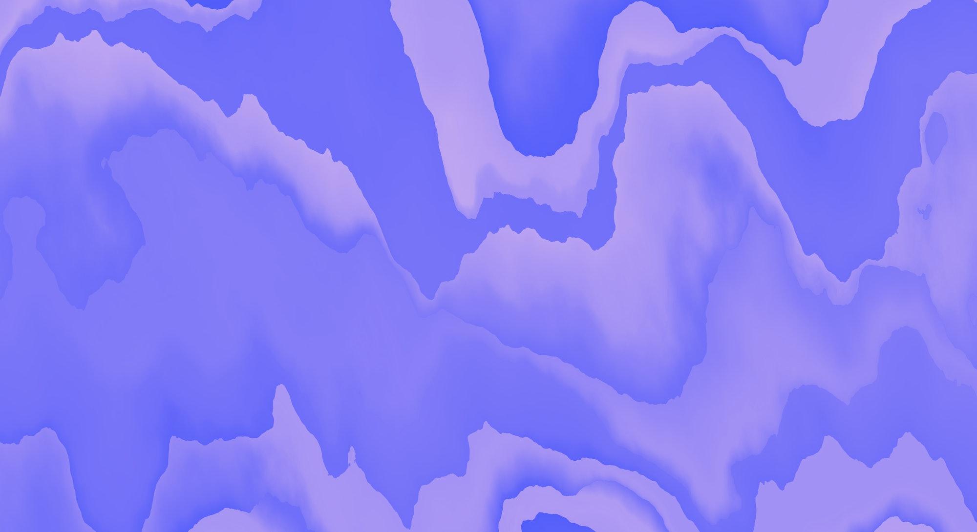 Mountainous terrain, distorted wave illustration