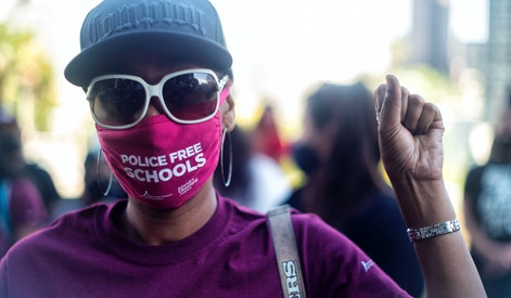 Los Angeles,  - June 22: Students, parents, teachers and community members belonging to Reclaim Our ...