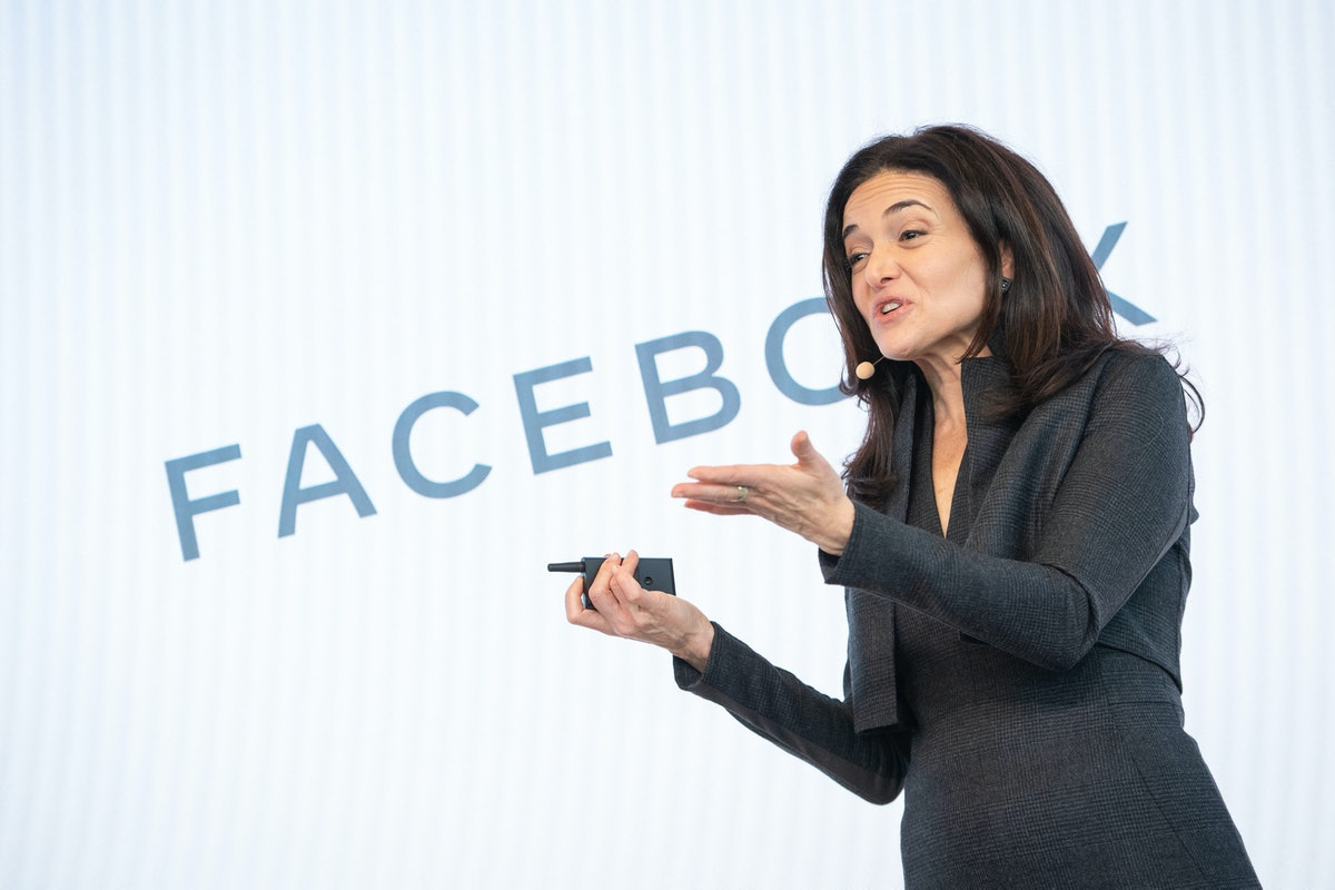 Facebook's Chief Operating Officer Sheryl Sandberg speaks during a press conference in London to ann...