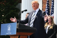 BEDMINSTER, NEW JERSEY - JULY 07: Former U.S. President Donald Trump speaks during a press conferenc...