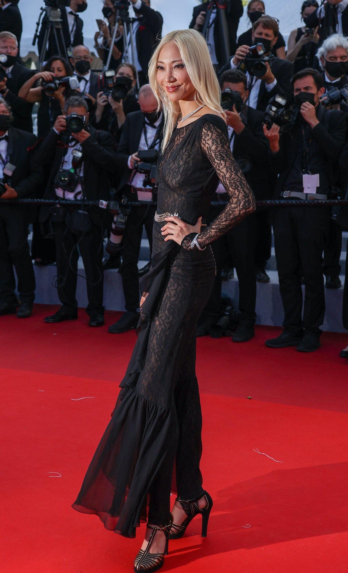 """CANNES, FRANCE - JULY 08: Soo Joo Park attends the """"Stillwater"""" screening during the 74th annual Cannes Film Festival on July 08, 2021 in Cannes, France. (Photo by Mike Marsland/WireImage)"""