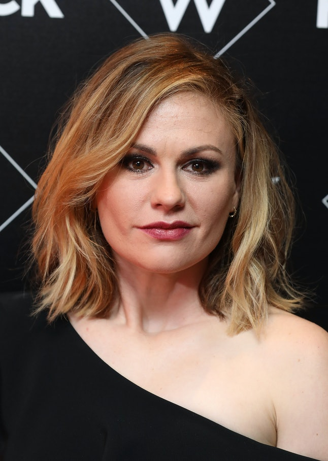 """LONDON, ENGLAND - NOVEMBER 13:  Anna Paquin attends the Premiere of UKTV's new series """"Flack"""" at Ham..."""