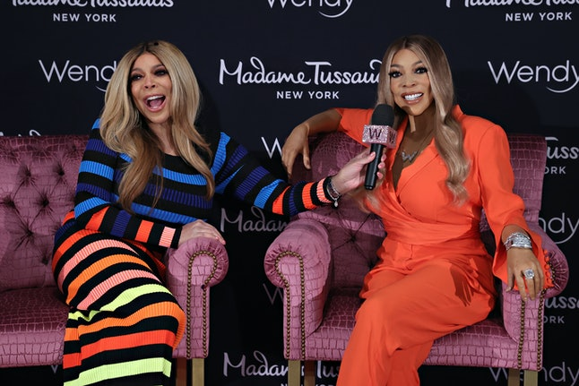 NEW YORK, NEW YORK - MAY 10: Wendy Williams (L) officiallyunveils her Madame Tussauds wax figure at...