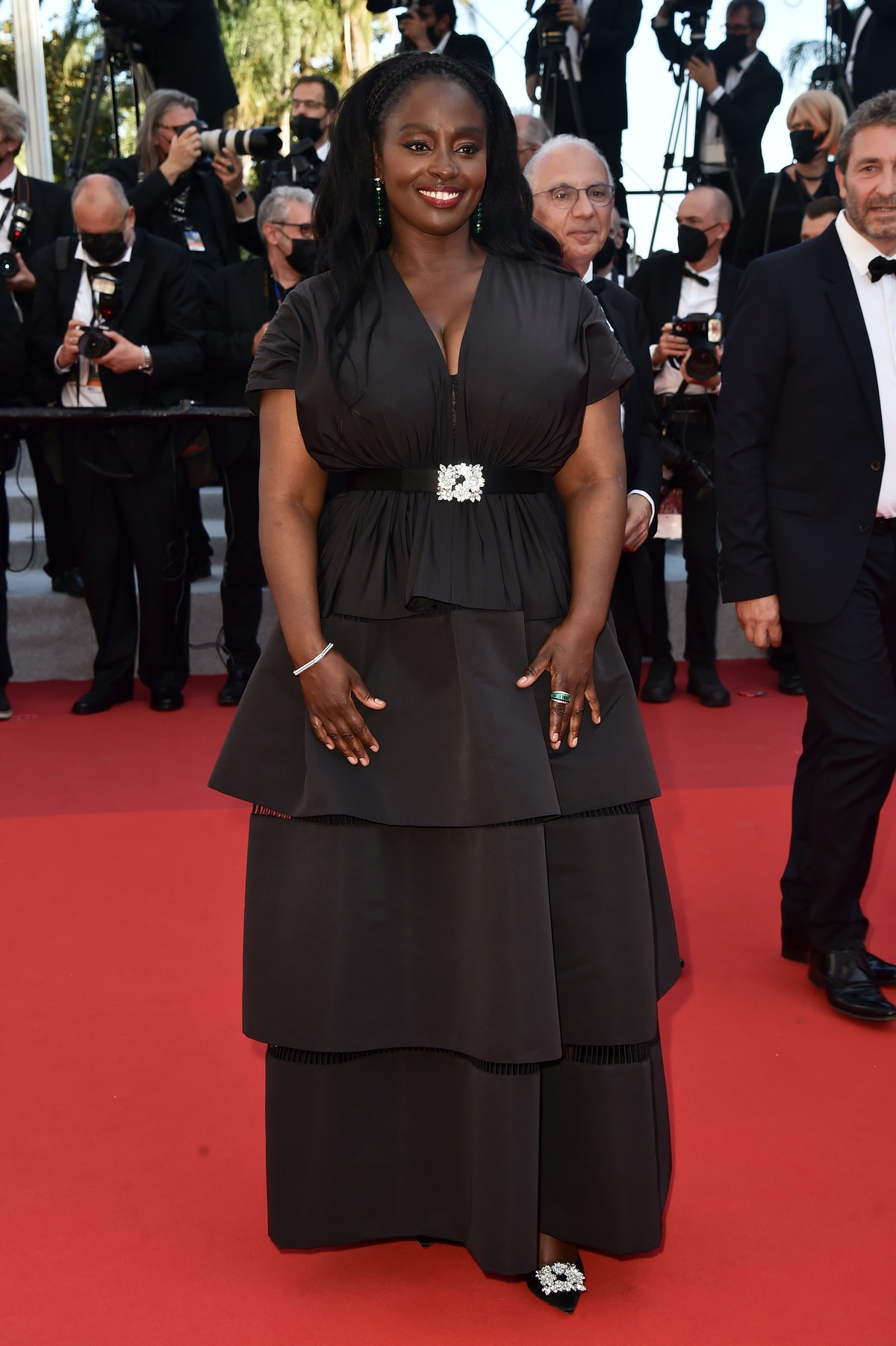 """CANNES, FRANCE - JULY 09: Aissa Maiga attends the """"Benedetta"""" screening during the 74th annual Cannes Film Festival on July 09, 2021 in Cannes, France. (Photo by Dominique Charriau/WireImage)"""
