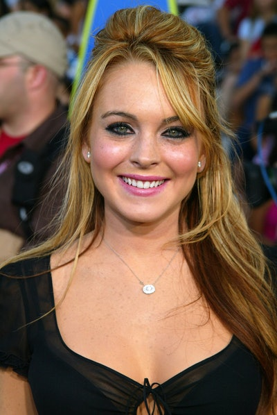 Lindsay Lohan during 2003 Teen Choice Awards - Arrivals at Universal Amphitheatre in Universal City, California, United States. (Photo by Jeffrey Mayer/WireImage)