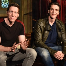VALENCIA, SPAIN - APRIL 11: 'Harry Potter' actors James Phelps (R) and Oliver Phelps (L), promote 'H...