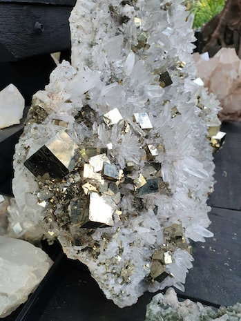 pyrite crystal gold