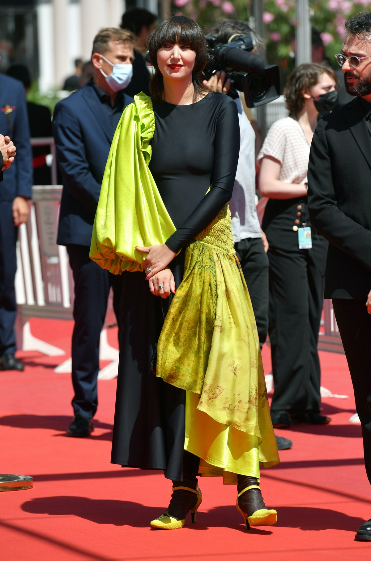 """CANNES, FRANCE - JULY 09: Karen O attends the """"Where Is Anne Frank"""" screening during the 74th annual Cannes Film Festival on July 09, 2021 in Cannes, France. (Photo by Dominique Charriau/WireImage)"""