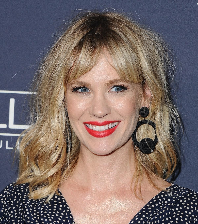 January Jones sports a silky shag cut — she's just one of many celebrities with a shag haircut.