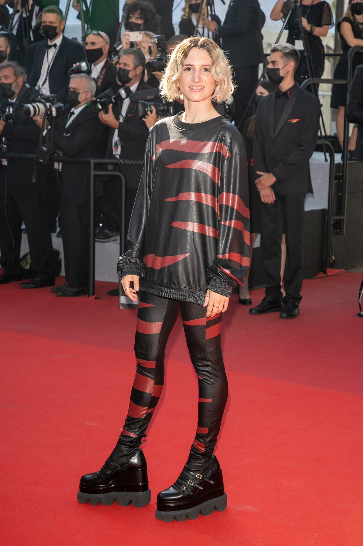"""CANNES, FRANCE - JULY 09: Aloise Sauvage attends the """"Benedetta"""" screening during the 74th annual Cannes Film Festival on July 09, 2021 in Cannes, France. (Photo by Marc Piasecki/FilmMagic)"""